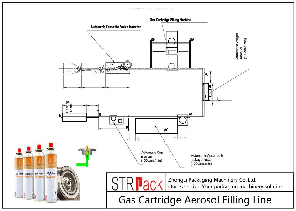 自動氣瓶氣霧劑灌裝線