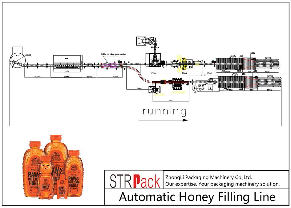 自動蜂蜜灌裝線