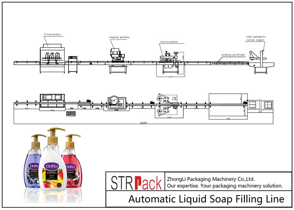全自動液體肥皂灌裝線