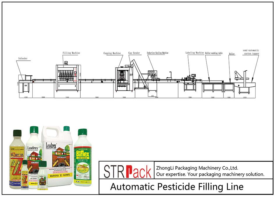 農藥自動灌裝線