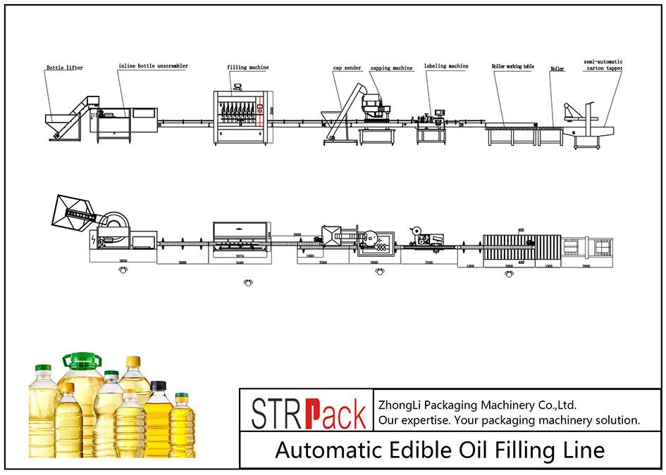 食用油自動灌裝線